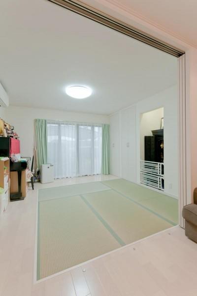 和室 (子育てに優しい収納にこだわる住まい)