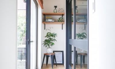 全長5mの造作ソファでのんびりダイニングのお家 (縁側)