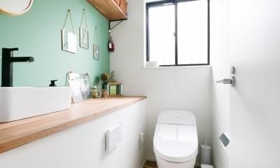 全長5mの造作ソファでのんびりダイニングのお家 (トイレ)