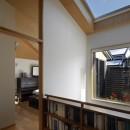 大きな天窓の家の写真 吹き抜け
