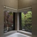 大きな天窓の家の写真 浴室