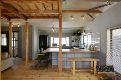 キッチン (M邸_おうちでアウトドア)