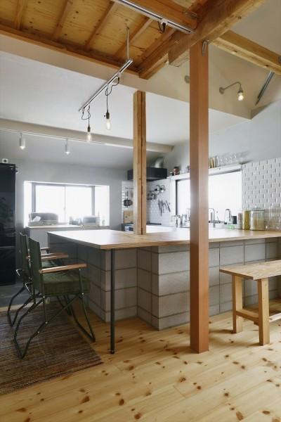 キッチンカウンター (M邸_おうちでアウトドア)