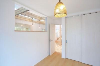 1階洋室 (キャットウォークと大型吹抜けのある家)