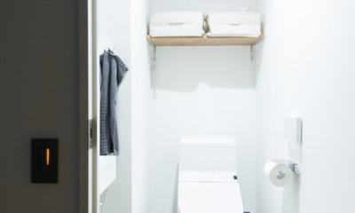 清潔感あふれる、コンパクトなシンプルルーム (清潔感のあるトイレ)
