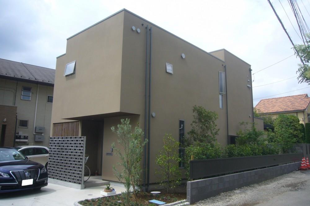 外観 (三つの陸屋根を持つコートハウス)