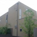 三つの陸屋根を持つコートハウスの写真 外観