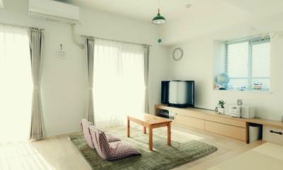 リノベーション / cozy (和室のあるリビング)