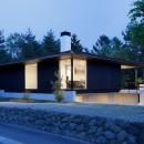 060軽井沢Kさんの家の写真 外観夕景