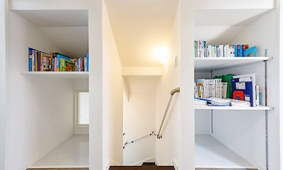 「色」の組み合わせを楽しむ、開放的な北欧スタイルリビング (【廊下】)