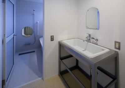 洗面脱衣室 (『東口の家』新たなコンセプトを持った住まい)