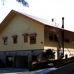 伊豆天城高原の別荘 -DOVE VAI- (ファサード)