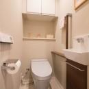 離れていても、つながる娘の写真 トイレ