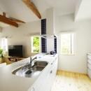 新築のようなフルリフォームで新生活スタートの写真 北欧風の優美なキッチン