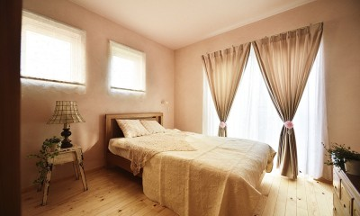 新築のようなフルリフォームで新生活スタート (女性らしいエレガントな寝室)