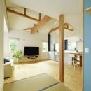 新築のようなフルリフォームで新生活スタートの写真 LDKにオープンな和室
