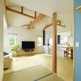 新築のようなフルリフォームで新生活スタート (LDKにオープンな和室)