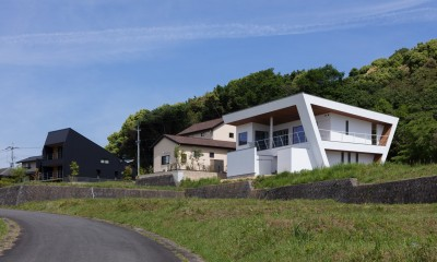 N12-house「回遊テラスのあるガレージハウス」 (建物南面)