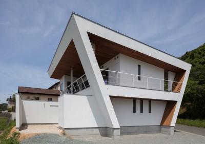 南東面外観 (N12-house「回遊テラスのあるガレージハウス」)