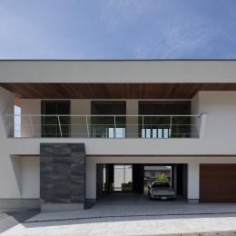 N12-house「回遊テラスのあるガレージハウス」 (建物北面)