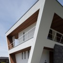 N12-house「回遊テラスのあるガレージハウス」の写真 建物北東面
