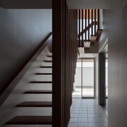 N12-house「回遊テラスのあるガレージハウス」 (階段)
