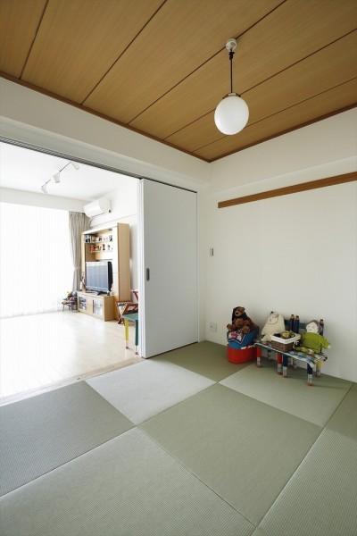 和室 (T邸_お気に入りが彩る白いキャンバス)
