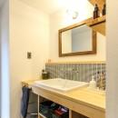 ざっくり、荒々しくの写真 洗面室