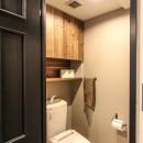 ざっくり、荒々しくの写真 トイレ