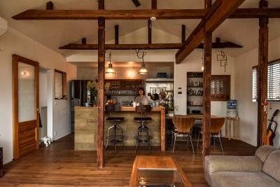 ダイニングキッチン (古き良き、築古戸建てリノベーション)