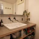男前なグレーの写真 洗面室