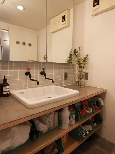 洗面室 (男前なグレー)