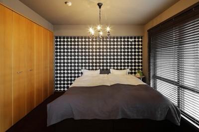 北欧ラグジュアリーな寝室 (「海」がテーマ。リゾート感溢れるLDK)