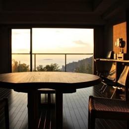 熱海リゾートマンションリノベーション (リビング)