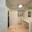 洗練された空間。都市の暮らしを楽しむ理想のリノベーションの写真 ご主人専用の個室