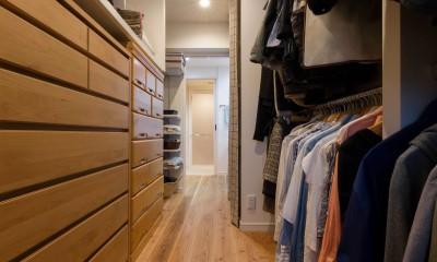 大容量のウォークスルークローゼット|適材適所。住まいの可能性を引き出したリノベーション