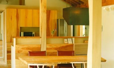 岩室の家 地元の加工技術で作る家 (ダイニングキッチン)