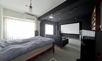NYブルックリンスタイルリノベーション (寝室)