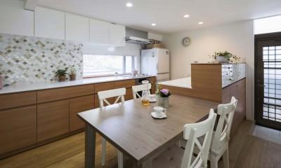 浜田山の家|スタイリッシュなNYスタイルの空気が漂う大階段のリノベーション (ダイニングキッチン)