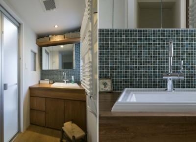 洗面・浴室 (浜田山の家|スタイリッシュなNYスタイルの空気が漂う大階段のリノベーション)