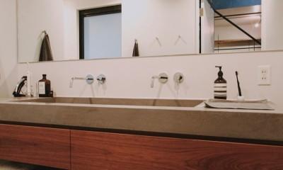 都心のコーポラティブハウスリノベ (洗面室)