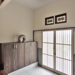 日本の造作を現代に (玄関)