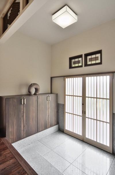 玄関 (日本の造作を現代に)