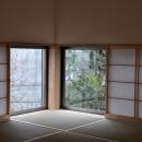 松庵の家 樹々と共生する家の写真 和室