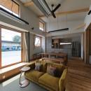 甲斐元町の家~遊び心のある家~の写真 リビング