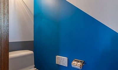 ブルーを基調とした爽やかなリノベーション
