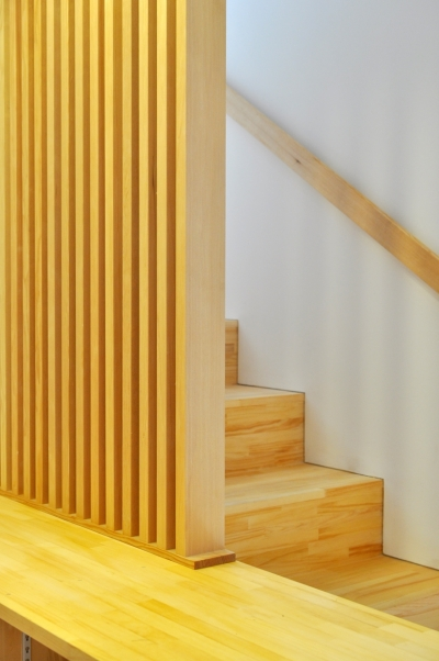 松庵の家 樹々と共生する家 (階段)