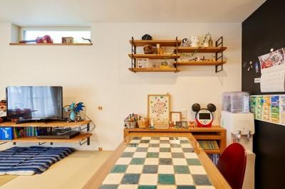 木と風の家の仲間に加わった梯子とタイル~戸建てリノベーション~ (木と風の家の仲間に加わった梯子とタイル【戸建て】のリビングダイニング)