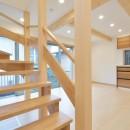 当社自慢の腕利き大工さんによる手作り階段&全面リフォームの写真 階段