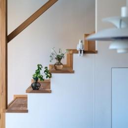 椿山の家 -つながりのある家- (リビング階段)